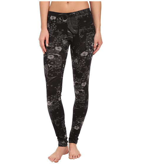Alternative - Printed Skinny Legging (Black Floral Ladies) Women's Casual Pants