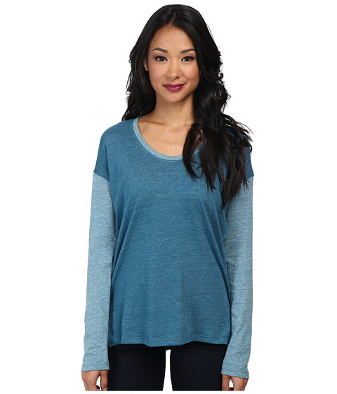 Alternative - Eco-Jersey Tunic L/S Top (Eco True Blue Coral/Eco Blue Coral) Women's Long Sleeve Pullover