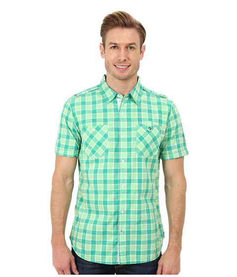 PROJEK RAW - S/S Shirt 124260X (Green) Men's Clothing