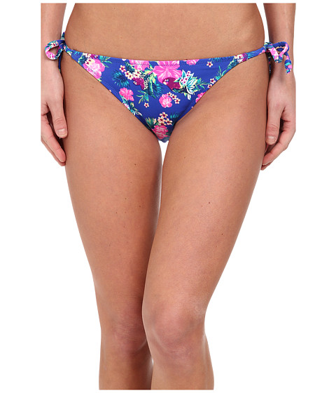 Brigitte Bailey - Aphrodite Side Tie Brief (Ocean Blue Floral) Women's Swimwear