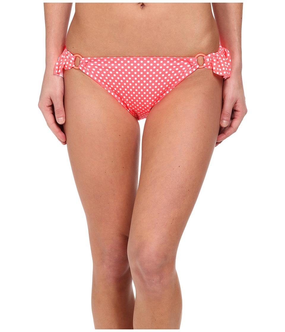Gabriella Rocha - Hemera Bikini Brief (Neon Coral Dot) Women's Swimwear