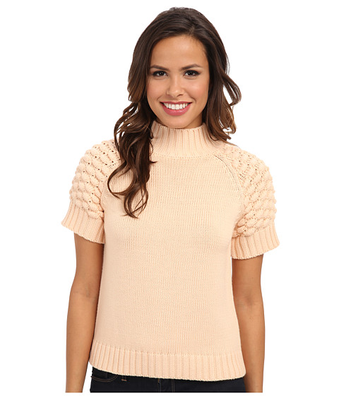 525 america - Bobbie Stitch S/S Mock (Bellini) Women's Sweater