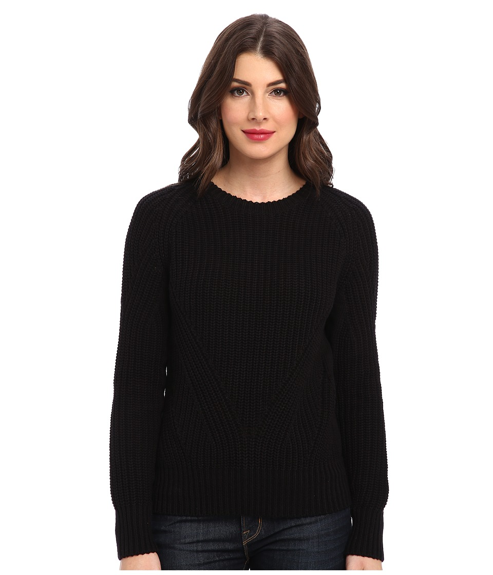 525 america - Hi Rib Crop Crew (Black) Women's Sweater