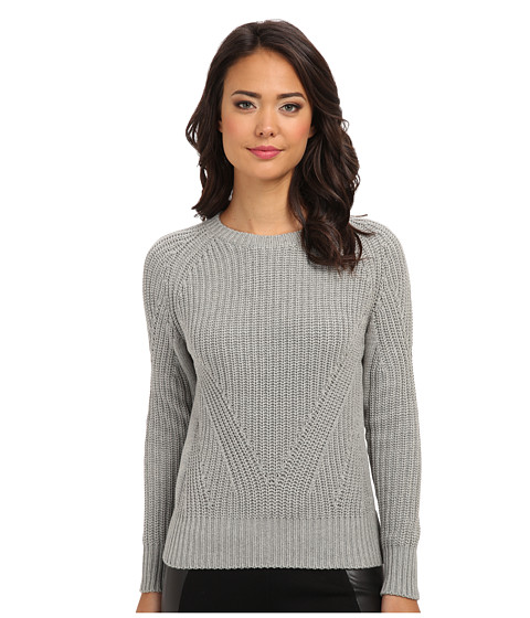 525 america - Hi Rib Crop Crew (Grey) Women's Sweater