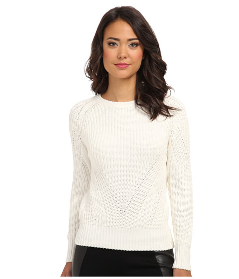 525 america - Hi Rib Crop Crew (White Cap) Women's Sweater