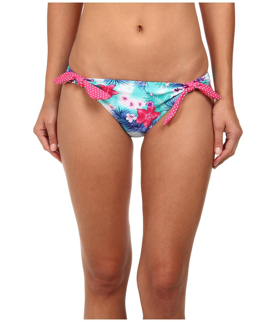 Gabriella Rocha - Aura Bikini Brief (Fuchsia Rose Floral) Women's Swimwear