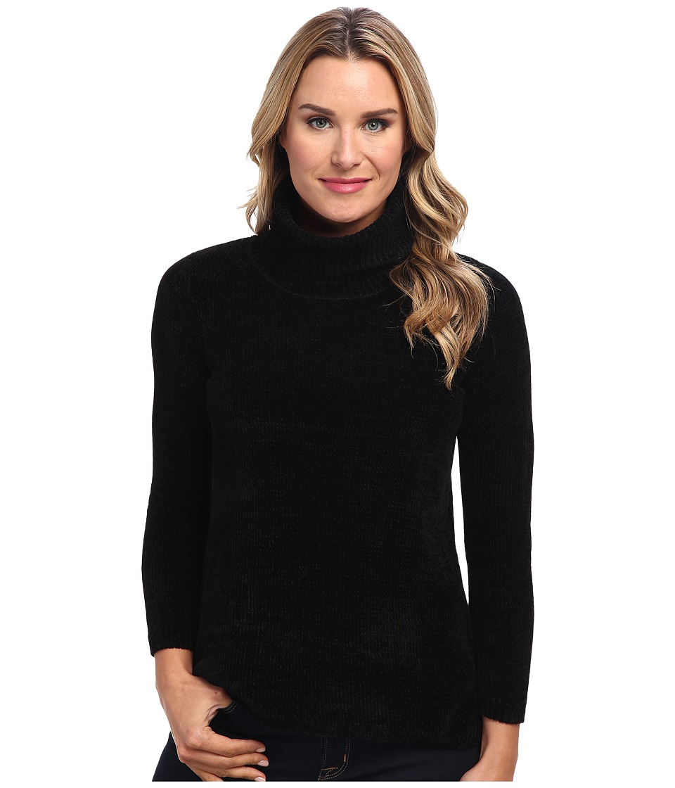 525 america - Heritage Turtle Neck - Chenille (Black) Women's Sweater
