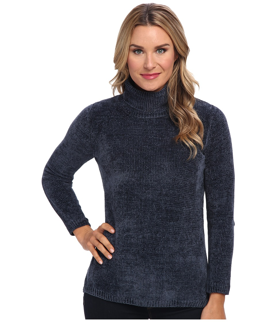 525 america - Heritage Turtle Neck - Chenille (Steel/Stealth Gray/Stealth Gray) Women's Sweater