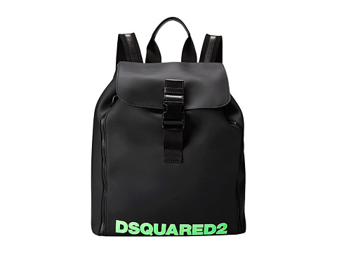 DSQUARED2 - Dan Backpack (Black/Green) Backpack Bags