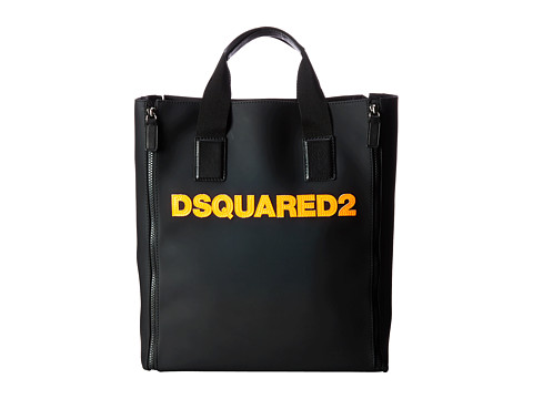 DSQUARED2 - Dan Shopper (Black/Orange) Tote Handbags