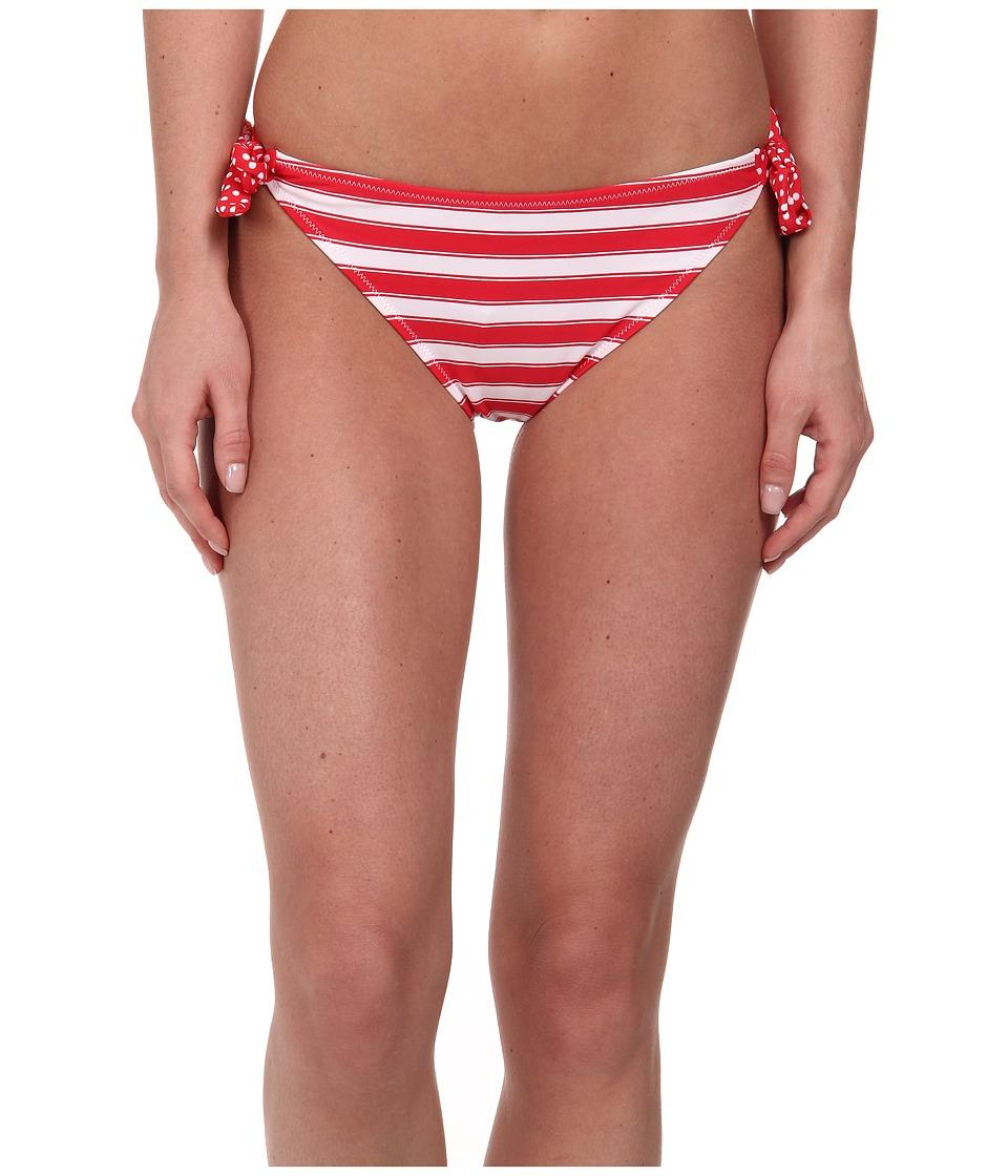 Gabriella Rocha - Selene Side Tie Brief (True Red Stripe) Women's Swimwear