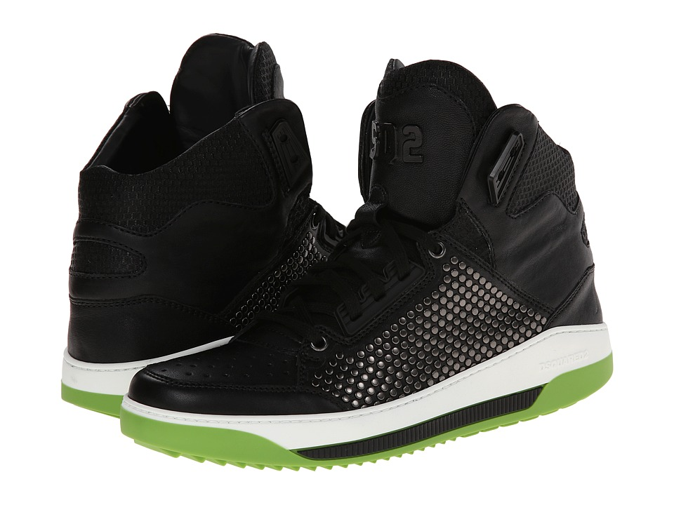DSQUARED2 Satellite High Top Sneaker (Black) Men