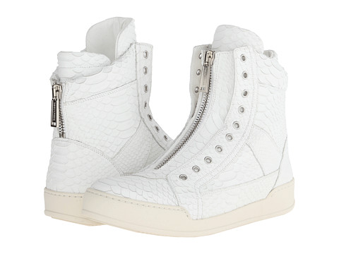 DSQUARED2 - Scale Print Asylum High Top Sneaker (White) Men's Shoes