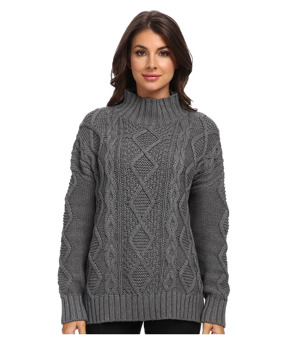 525 america - Xo's Mock Neck (Dark Grey) Women's Sweater