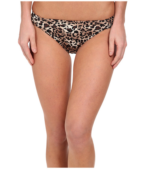 Christin Michaels - Nesoi Leopard Bikini Bottoms (Brown Animal) Women's Swimwear