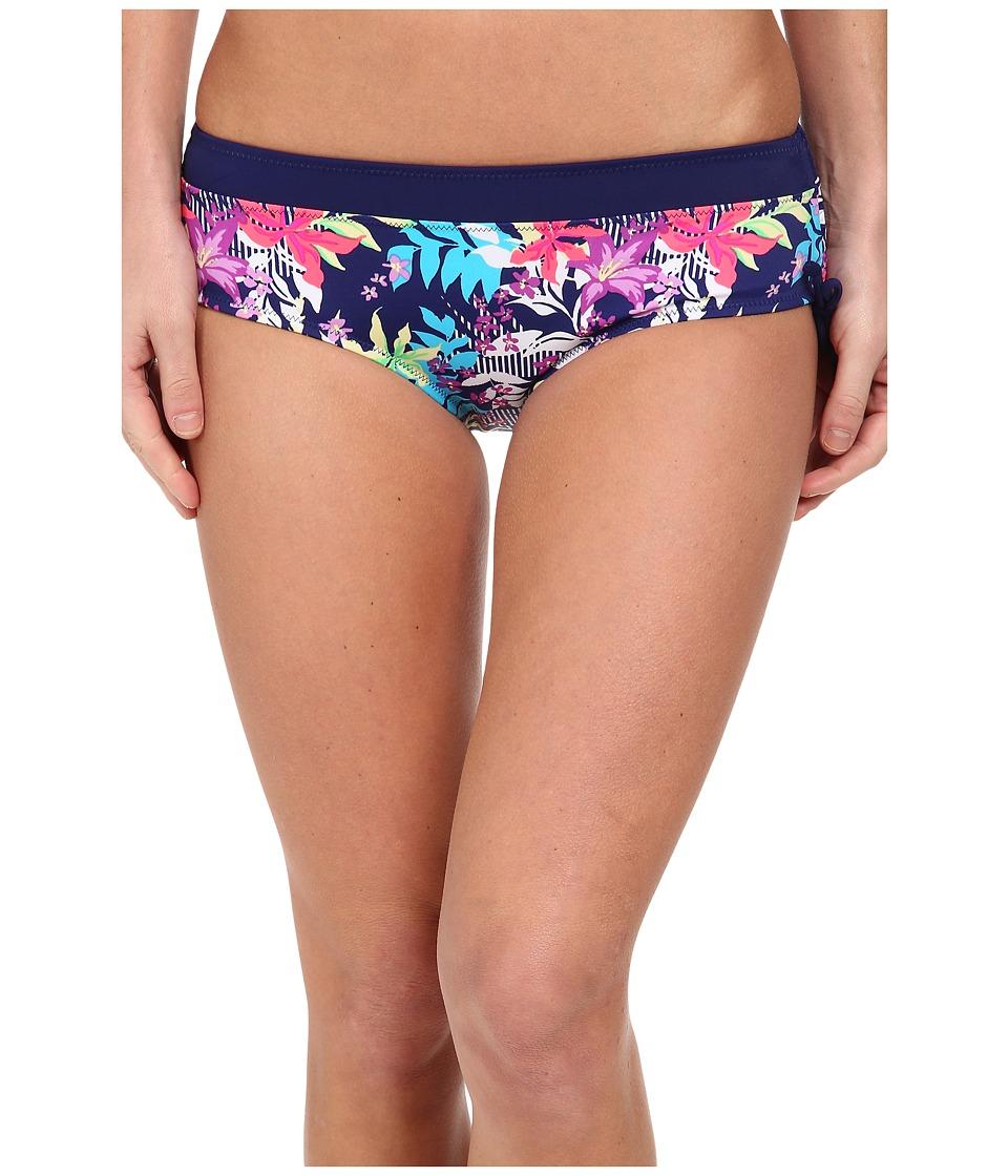 Christin Michaels - Hestia Hipster (Midnight Blue Palm) Women's Swimwear
