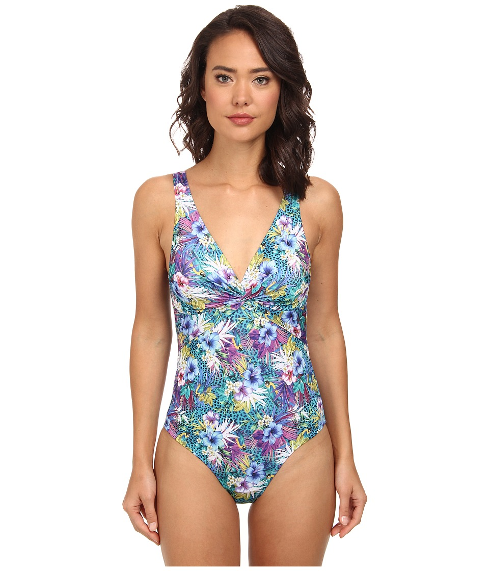Christin Michaels - Eurynome Swimsuit (Multicolour Floral) Women's Swimsuits One Piece