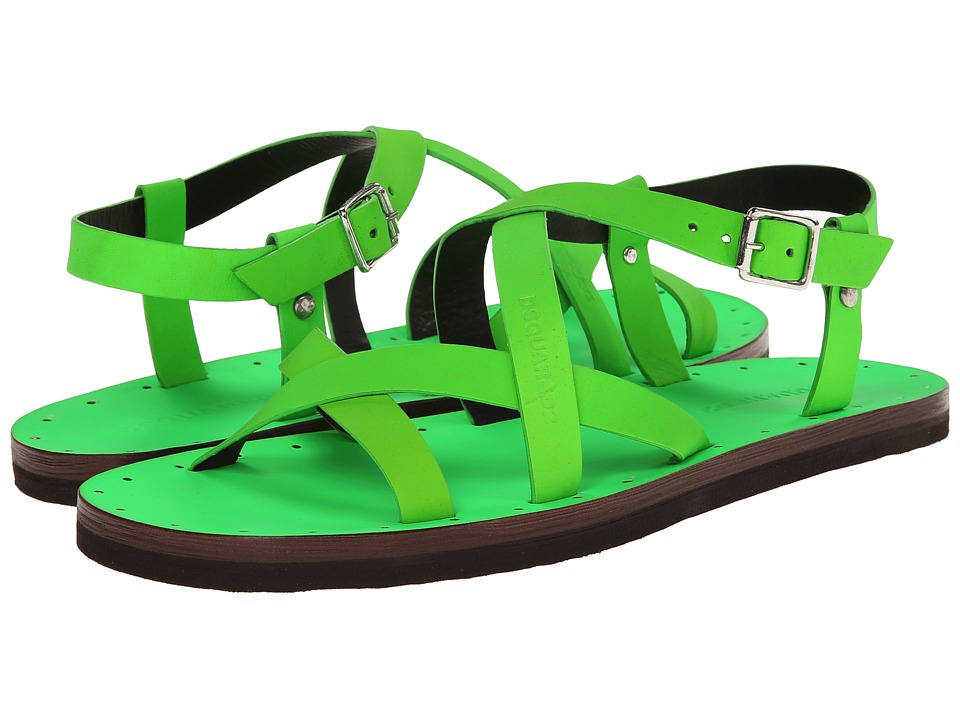 DSQUARED2 - Jesus On The Beach Sandal (Fluorescent Green) Men's Sandals