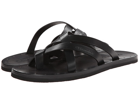 DSQUARED2 - Jesus On The Beach Crossover Sandal (Black) Men's Sandals