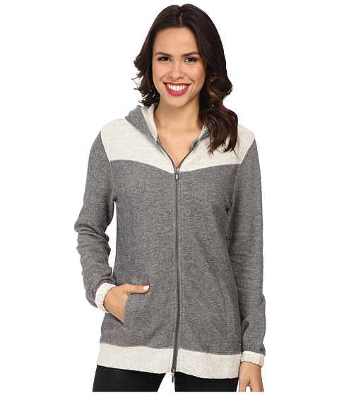Jag Jeans - Varsity Hoodie Relaxed Fit Jacket (Light Grey Tweed) Women's Sweatshirt