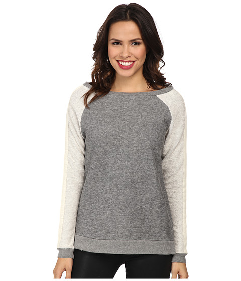 Jag Jeans - Avalon Relaxed Fit Pullover (Light Grey Tweed) Women