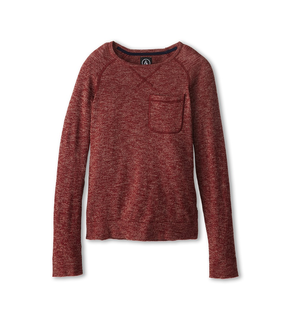 Volcom Kids - Standard Sweater (Big Kids) (Burnt Sienna Marled) Boy's Sweater