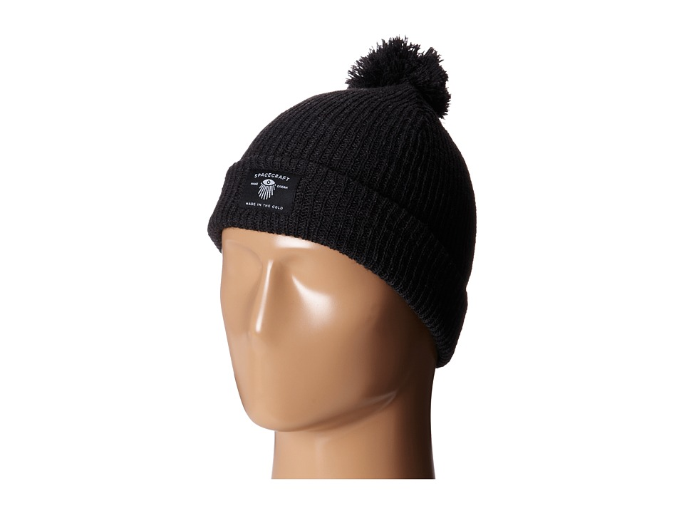 Spacecraft - Dreamer Pom (Black) Beanies