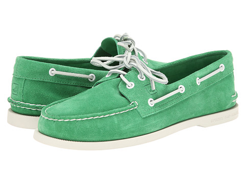 Sperry Top-Sider - A/O 2-Eye Suede (Green) Men's Shoes