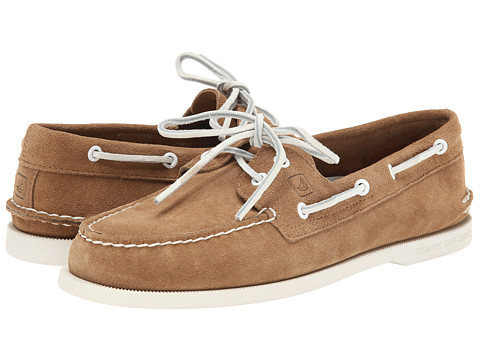 Sperry Top-Sider - A/O 2-Eye Suede (Tan 1) Men