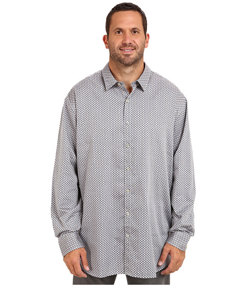 Tommy Bahama Big & Tall - Big Tall Kings Row Long Sleeve Shirt (Chocolate) Men's Long Sleeve Button Up