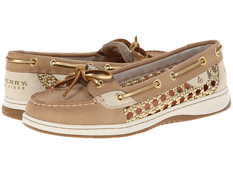 Sperry Top-Sider - Angelfish 2 Eye Cane Woven (Linen Gold) Women's Shoes