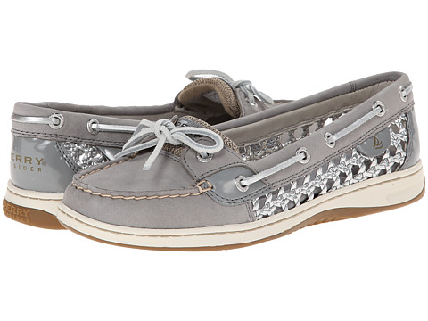 Sperry Top-Sider - Angelfish 2 Eye Cane Woven (Grey Silver) Women