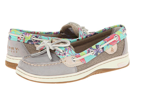 Sperry Top-Sider - Angelfish 2 Eye Flamingo Floral (Grey) Women