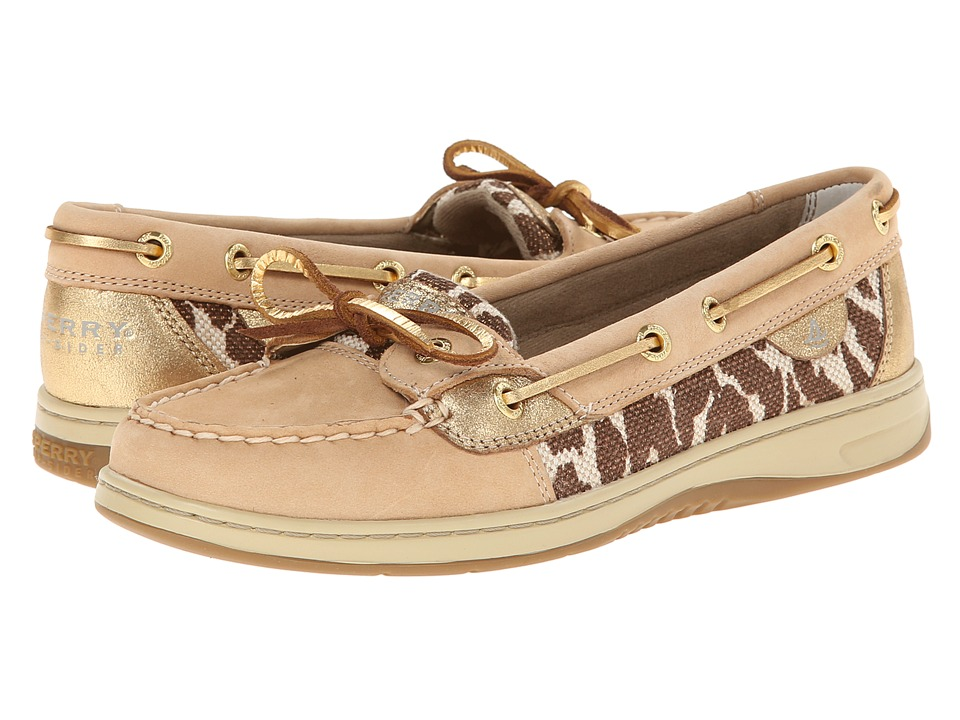 Sperry Top-Sider - Angelish 2 Eye Shimmer Leopard (Linen Gold) Women's Shoes