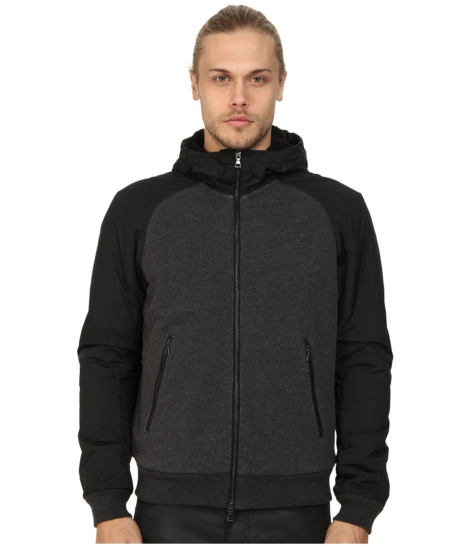 Vince - Sherpa Lined Hoodie (Heather Black) Men's Sweatshirt