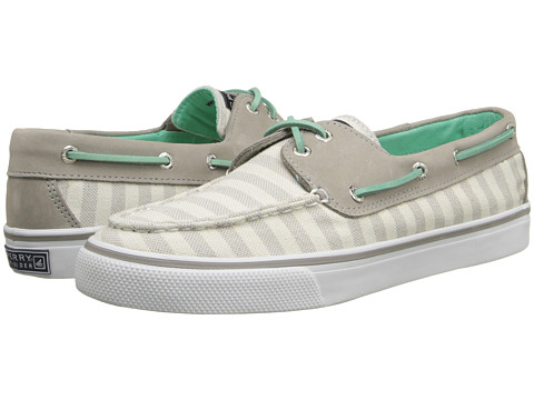 Sperry Top-Sider - Bahama 2 Eye Bretton Stripe (Grey Turquoise) Women