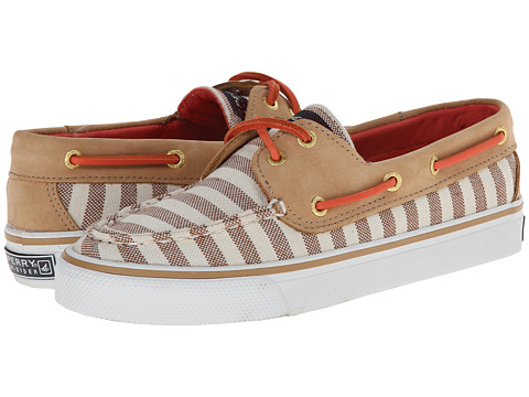 Sperry Top-Sider - Bahama 2 Eye Bretton Stripe (Sand Coral) Women's Shoes
