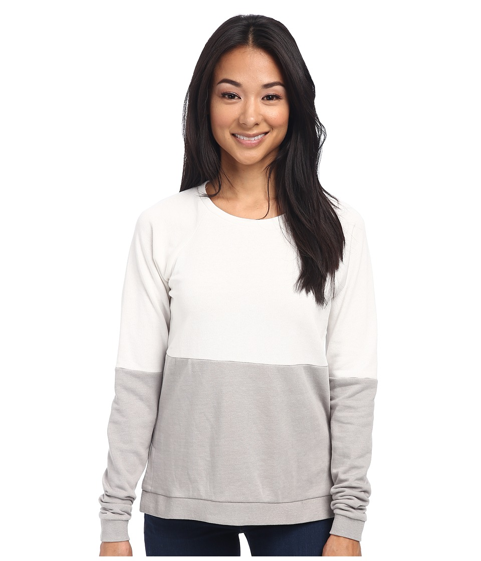 Alternative - Light French Terry Color Block Crew Neck (Stone/Shadow) Women's Long Sleeve Pullover