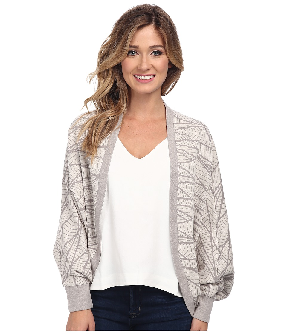 Alternative - Jacquard Cocoon Wrap (Stone) Women's Sweater
