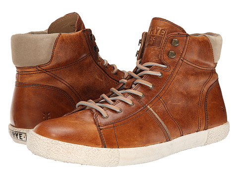 Frye - Bedford High (Cognac Antique Pull Up) Men's Lace up casual Shoes