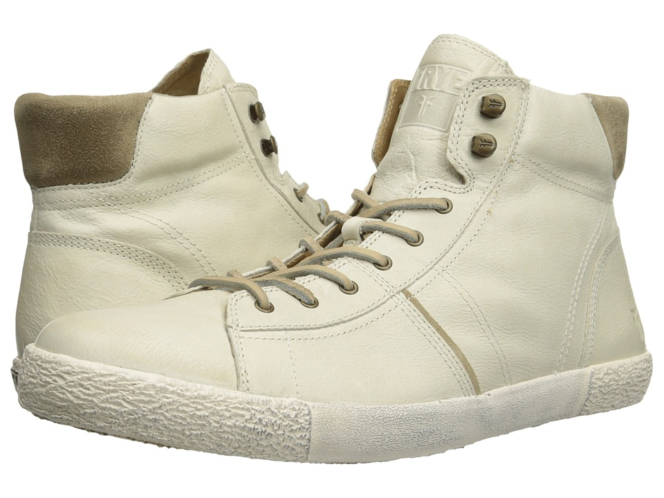 Frye - Bedford High (Off White Soft Vintage Leather) Men's Lace up casual Shoes