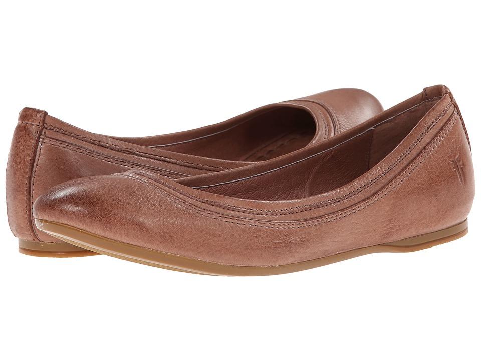 Frye - Agnes Ballet (Dusty Rose Soft Vintage Leather) Women's Dress Flat Shoes