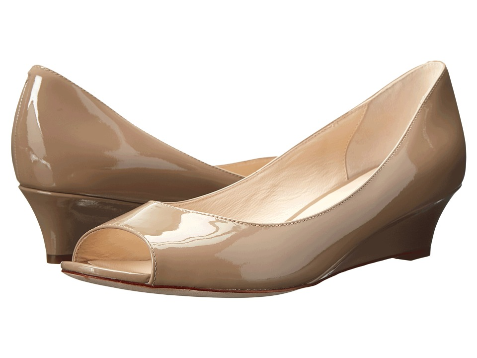 Cole Haan - Bethany Open Toe Wedge (Maple Sugar Patent) Women