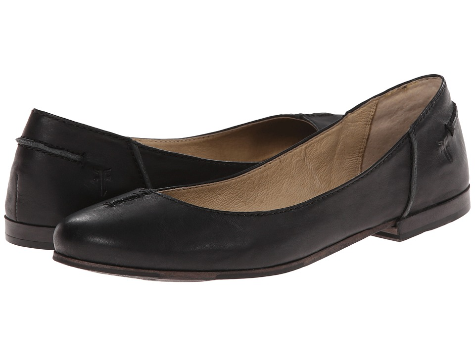 Frye - Callie Ballet (Black Soft Full Grain) Women