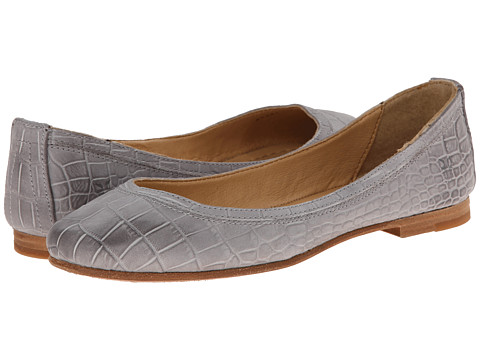 Frye - Carson Ballet (Grey Embossed Full Grain) Women's Flat Shoes