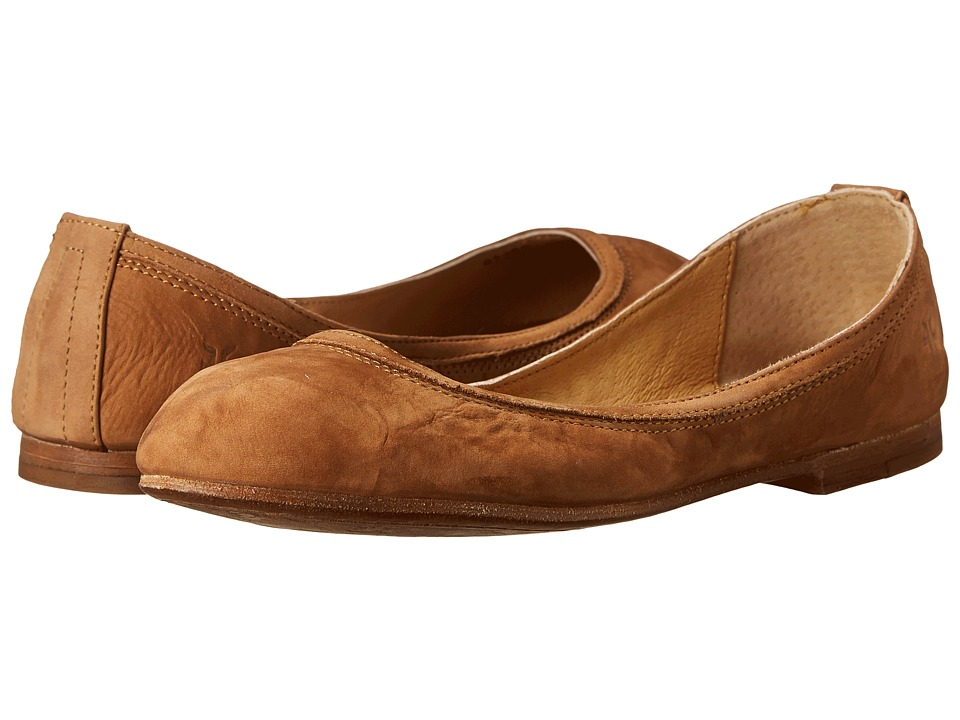 Frye - Carson Ballet (Camel Buffed Nubuck) Women's Flat Shoes