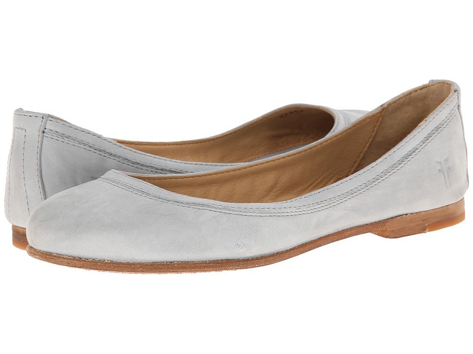 Frye - Carson Ballet (Ice Buffed Nubuck) Women's Flat Shoes