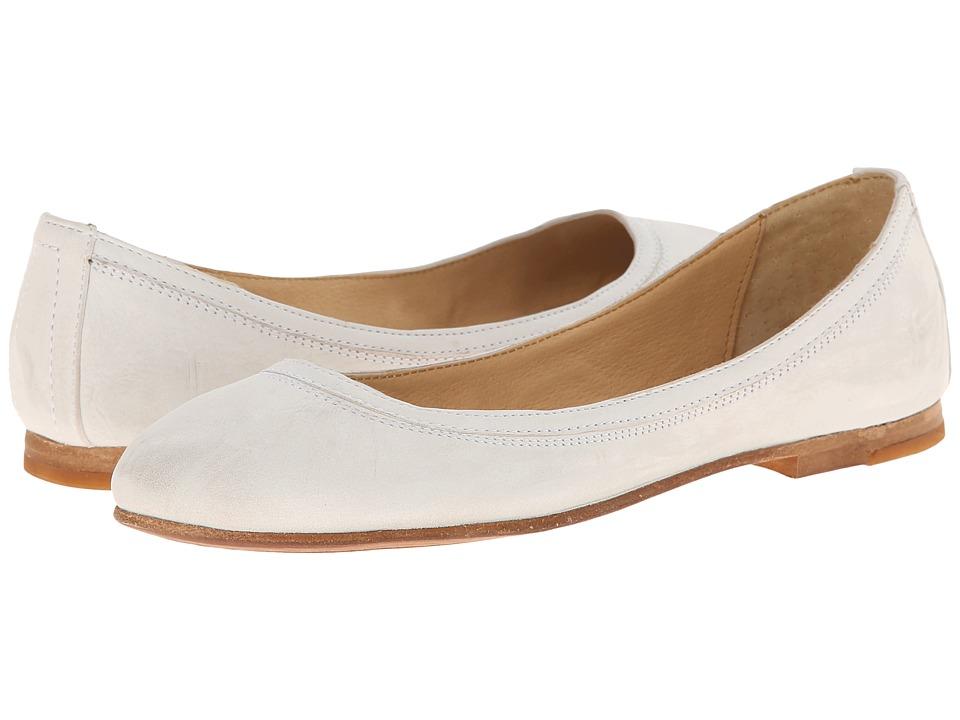 Frye - Carson Ballet (Off White Buffed Nubuck) Women's Flat Shoes