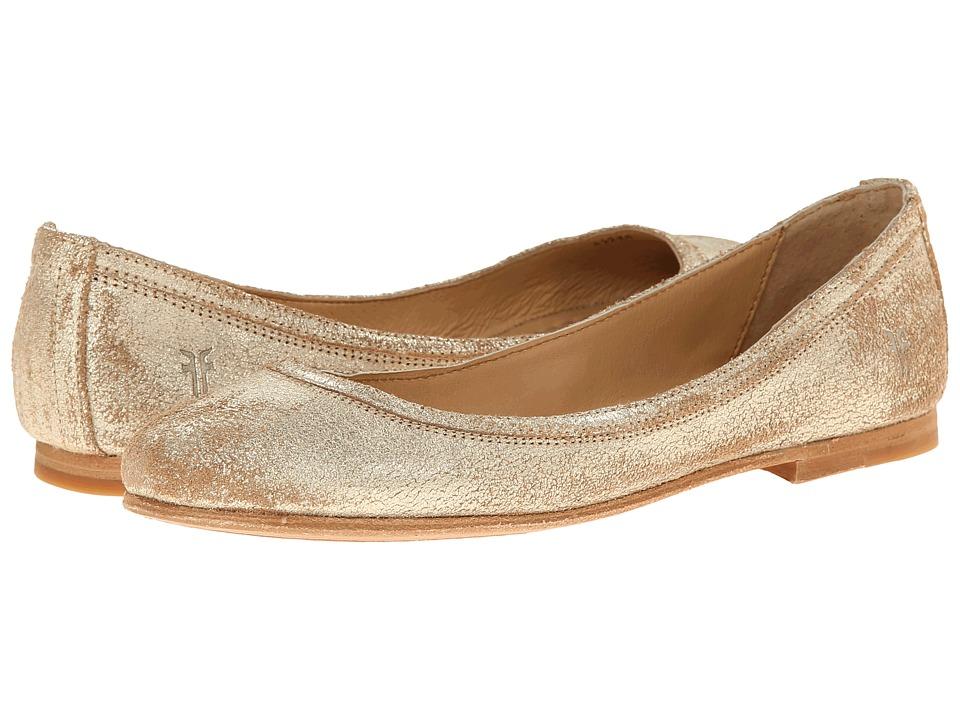 Frye - Carson Ballet (Gold Metallic Suede) Women's Flat Shoes