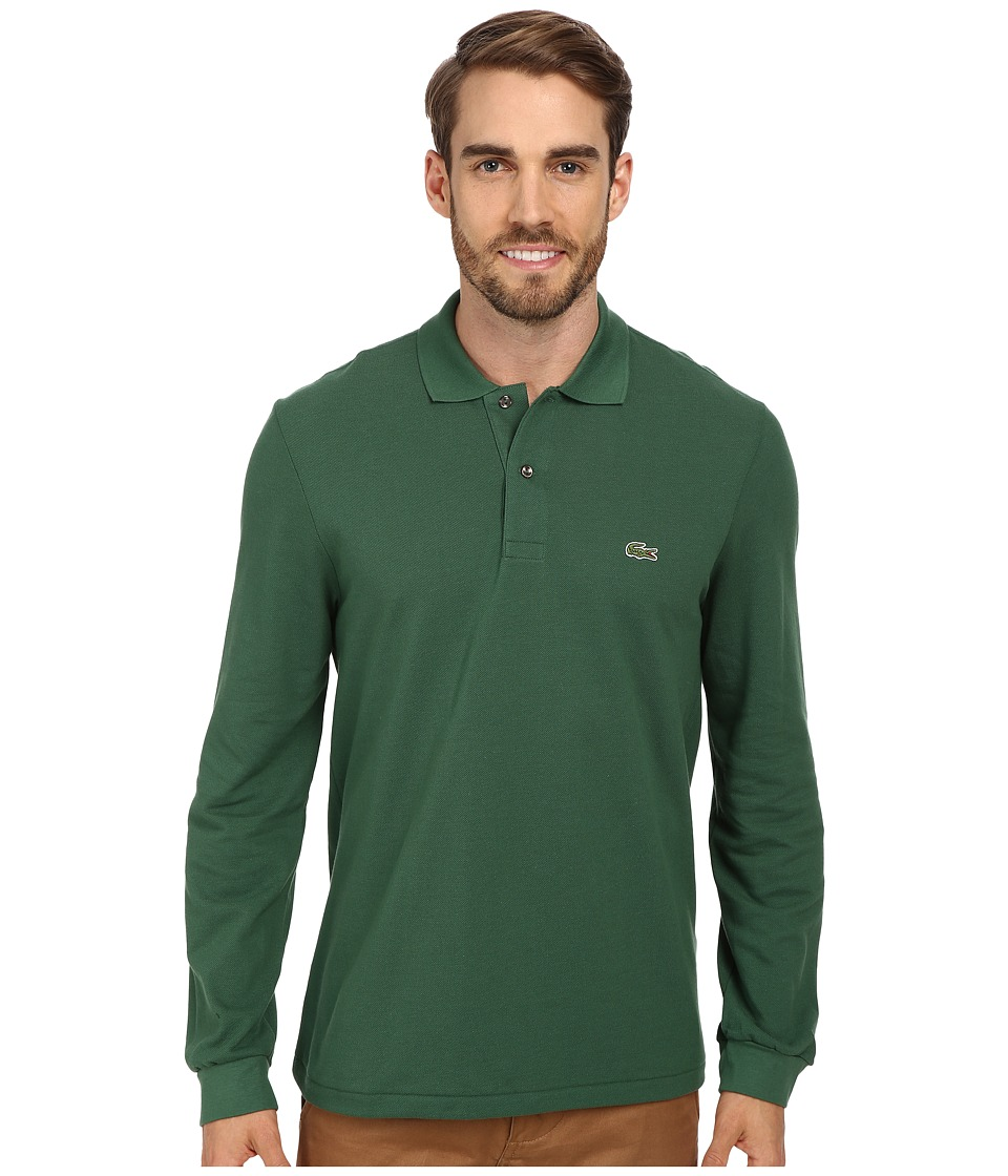 Lacoste - L/S Classic Pique Polo (Appalachan Green) Men's Long Sleeve Pullover